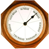 9.25in Classic Day Clock Quartz in Oak - DAY5320