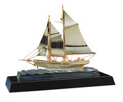 BLSN Crystal Wave-Breaking Sailboat - YBS5047