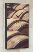 Oak Wine Barrels Art Designer Kitchen Wall Clock - GGW5442