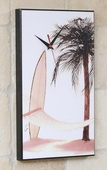 Hammock  Palm Tree & Surfboard Art Designer Wall Clock - GGW5450