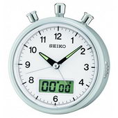 Seiko Bedside Alarm Stop watch countdown timer Clock - GSK4826