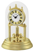 Seiko Acton Anniversary Clock Glass Dome Rotating Pendulum in Brass Finish - GSK4174