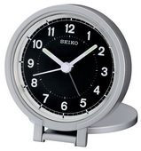 Aqua Pear Alcester Silver-tone Metallic Case Folding Stand Alarm Clock by Seiko - GSK4206