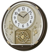 Seiko Deluxe Newhaven Musical Wall Clock 12 Melodies with Holiday Melodies - GSK4650