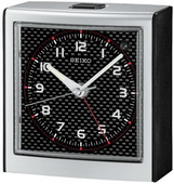 Seiko West Georgetown Silver-tone Bedside Alarm Clock Quiet Sweep No Ticking Sound - GSK4050
