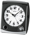 Aqua Pear West Cordova Black Bedside Alarm Clock Quiet Sweep No Ticking Sound - GSK4060