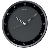 12.25in Seiko West Buckingham Black Metallic Wall Clock Quiet Sweep No Ticking Sound - GSK4262