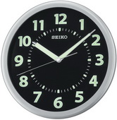 10.25in Aqua Pear West Jefferson Silver-tone Metallic Case Wall Clock by Seiko - GSK4290