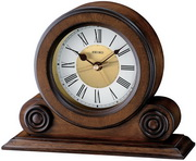 Seiko East Sherwood Brown Alder Table Alarm Clock - GSK4350