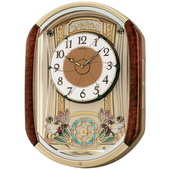 Aqua Pear Deluxe Stratton Musical Wall Clock Including Holiday Melodies by Seiko - GSK4628