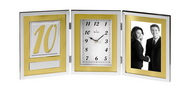 Bulova Picture Frame Clock With Chrome Finish - GTB6066