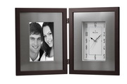 Bulova Picture Frame Clock With An Expresso Brown Finish - GTB6068