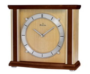 Bulova Mantel Clock With Solid Bamboo Case And Walnut & Natural Finish - GTB6102
