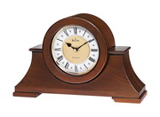 Aqua Pear Deluxe Chiming Mantel / Table Clock Wooden Case Walnut Finish by Bulova - GTB6116