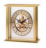 Bulova Tabletop Clock With Metal Case And Brushed Brass Finish - GTB6118