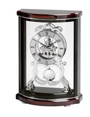 Bulova Deluxe Decorative Skeleton Home & Office Mantel Clock, Mahogany - GTB6208