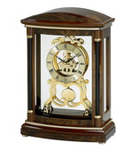 Bulova Deluxe Decorative Skeleton Home & Office Mantel Clock, Walnut - GTB6210