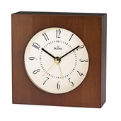 Bulova Solid Lamiinated Bamboo With Walnut Finish Alarm Clock - GTB6308