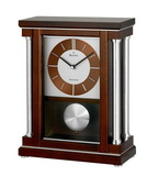 Bulova Decorative Chiming Mantel Desk Home & Office Clock Walnut - GTB6388