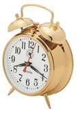 Bulova Table Top Wind Up Clock Brass - GTB6422