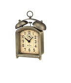 Bulova Metal Case With Antique Bronze Finish Alarm Clock - GTB6426