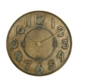 Bulova 12in Resin Case With Antique Bronze Metallic Finish Wall Clock - GTB6490