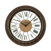 18in Bulova Outdoor Indoor Wall Clock