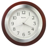 Aqua Pear GTB6560 Deluxe 14in Wall Clock Quartz by Bulova