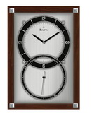 Bulova Solid Wood Case With Dark Walnut Finish Wall Clock - GTB6600