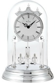 Bulova Metal Base Chrome Finish Quartz Anniversary Clock - GTB6434