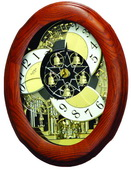 Rhythm Musical Wall Clock Oak - GTM2224