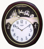 Rhythm Deluxe Musical Wall Clock - GTM2234