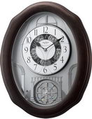 Rhythm Deluxe 30 Melodies Wooden Musical Wall Clock Including Holiday Songs - GTM2546