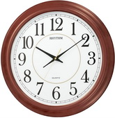 Rhythm 22in Wooden Wall Clock - GTM2344