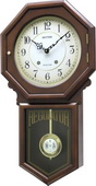 Rhythm Wooden Schoolhouse Wall Clock with Hourly Strike - GTM2372
