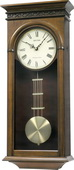 Rhythm 9 Melodies Traditional Regulator Wooden Walnut Musical Wall Clock Including Holiday Melodies
