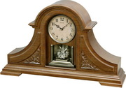 Rhythm 28 Melodies Solid Oak Musical Mantel Clock Including Holiday Melodies - GTM2484