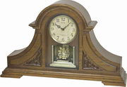 Rhythm 19 Melodies Wooden Musical Light-up Mantel Clock Including Holiday Melodies - GTM2584