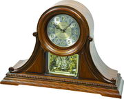Rhythm 19 Melodies Wooden Steel Dial Musical Mantel Clock Including Holiday Melodies - GTM2588