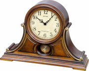 Rhythm 19 Melodies Best Selling Italian Style Wooden Musical Mantel Clock Including Holiday Melodies