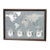 Rhythm Different Time Zone Wall Clock - GTM2426