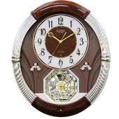 Rhythm Deluxe Musical Wall Clock Quartz 18 Songs - GTM2172