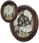 Rhythm Nostalgia Legend Musical Wall Clock Quartz Including Holiday Melodies