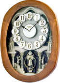 Rhythm 18 Melodies Wooden Musical Wall Clock Including Holiday Melodies - GTM2216