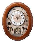 Rhythm 18 Melodies Wooden Musical Wall Clock Including Holiday Melodies - GTM2230