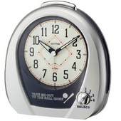 Rhythm GTM2294 Musical Baseball Alarm Table Clock