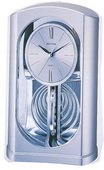 Rhythm GTM2300 Silver Mirrored Motion Desk Clock