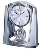 Rhythm Silver Swing Desk Clock - GTM2302