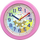 Rhythm Pink Wall Clock - GTM2342