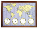Rhythm Deluxe Around The World clock Wooden Wall Clock - GTM2424